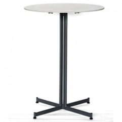 Metz High Table In Graphite With Cerami Dia 80 In White