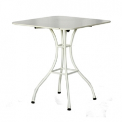 Royan Table Base in white - with ceramic 71x71 white